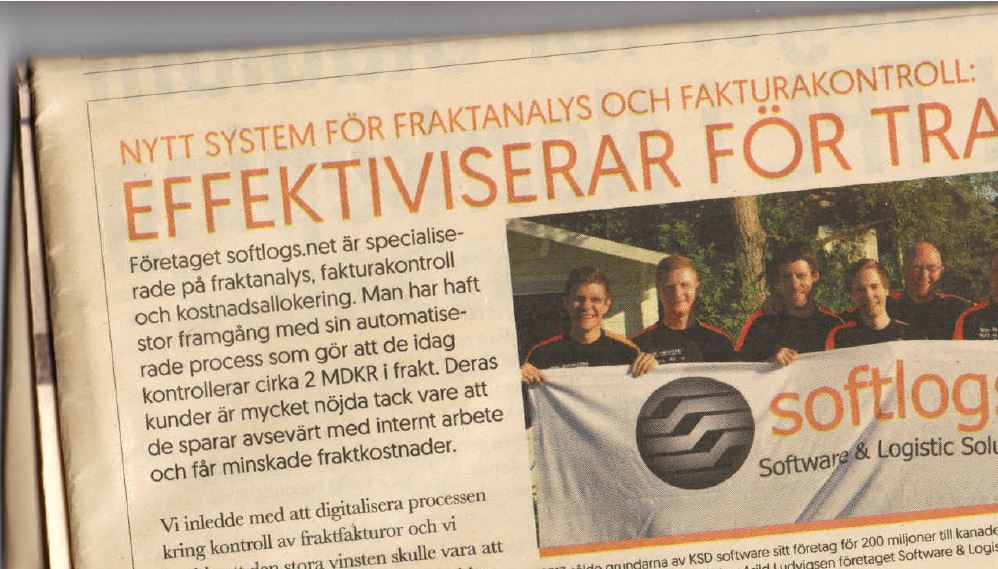 In Dagens Industri 22th October 2018